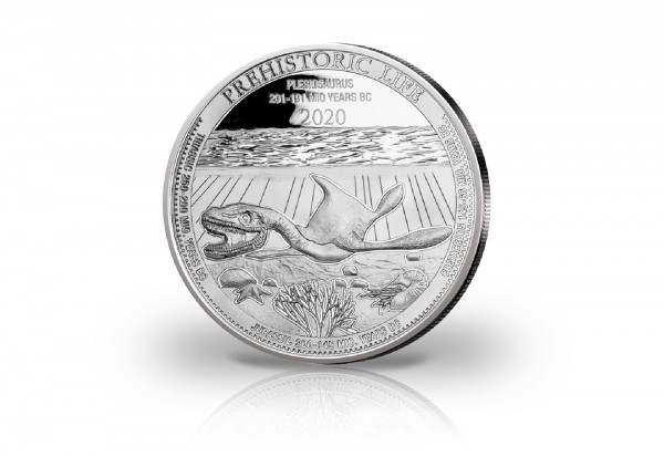 Prehistoric Life Plesiosaurus 1 oz Silber 2020