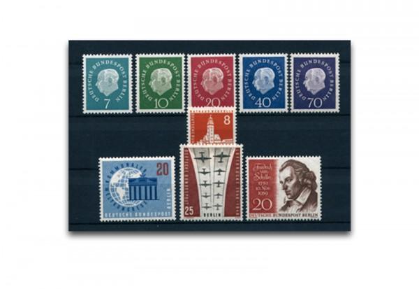 Berlin Jahrgang 1959 Mi.Nr. 182-190 postfrisch