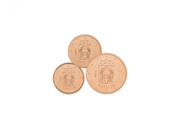 1 Cent - 5 Cent 2014 bankfrisch