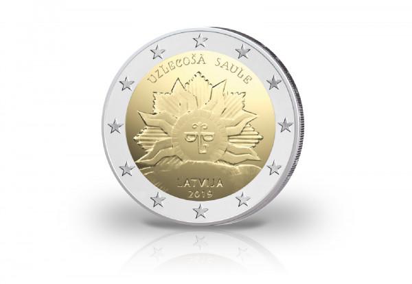 2 Euro 2019 Lettland Aufgehende Sonne