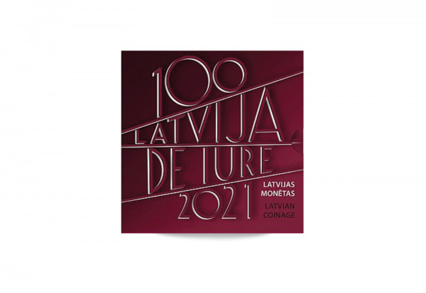 Kursmünzensatz 2021 Lettland st inkl. 2 Euro im Blister