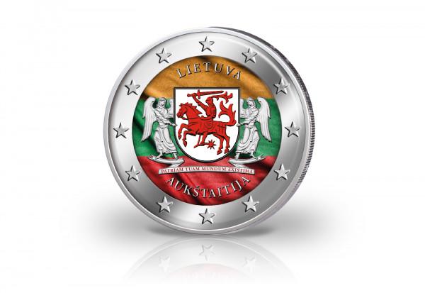 2 Euro 2020 Litauen Ethnographische Region Aukstaitija mit Farbmotiv