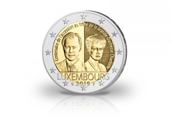 2 Euro 2019 Luxemburg 100 Jahre Thronbesteigung von Großherzogin Charlotte