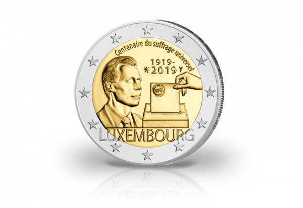 2 Euro 2019 Luxemburg 100 Jahre Allgemeines Wahlrecht
