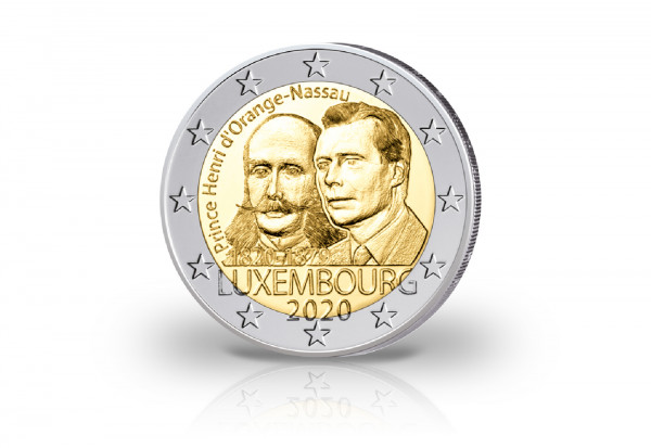 2 Euro 2020 Luxemburg 200. Geburtstag von Prinz Henri von Oranien-Nassau