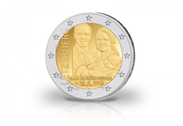 2 Euro 2020 Luxemburg Geburt von Charles Jean Philippe Joseph Marie Guillaume
