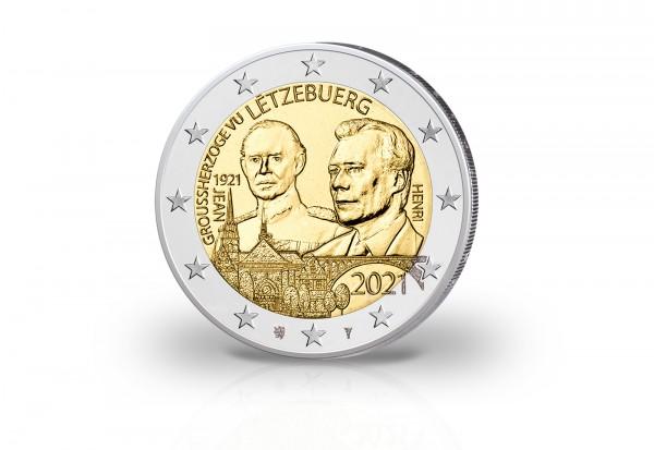 2 Euro 2021 Luxemburg 100. Geburtstag Großherzog Jean