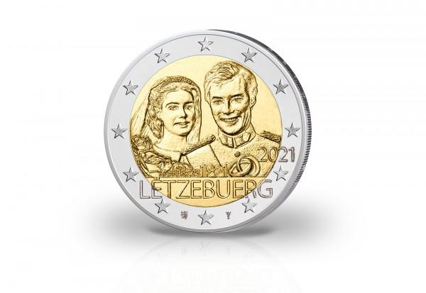 2 Euro 2021 Luxemburg 40. Hochzeitstag Großherzog Henri