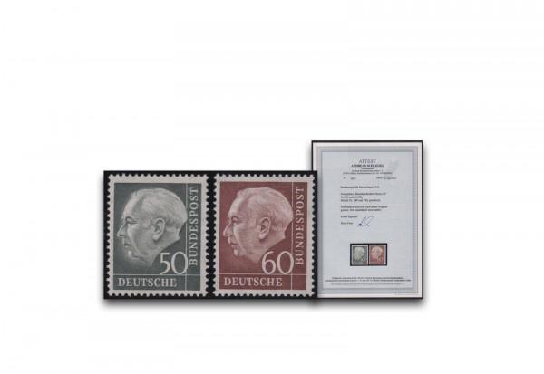 BRD Mi.Nr. 189/190 postfrisch FA Heuss 50 und 60 Pfennig