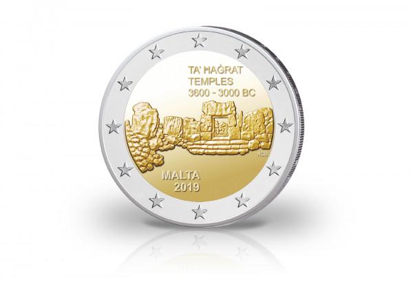 2 Euro 2019 Malta Ta Hagrat Tempel