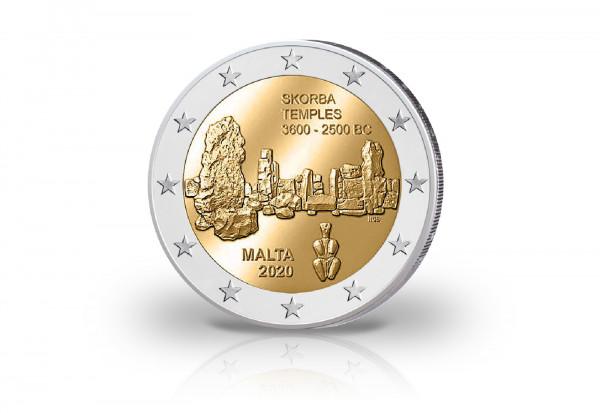2 Euro 2020 Malta Tempel von Skorba