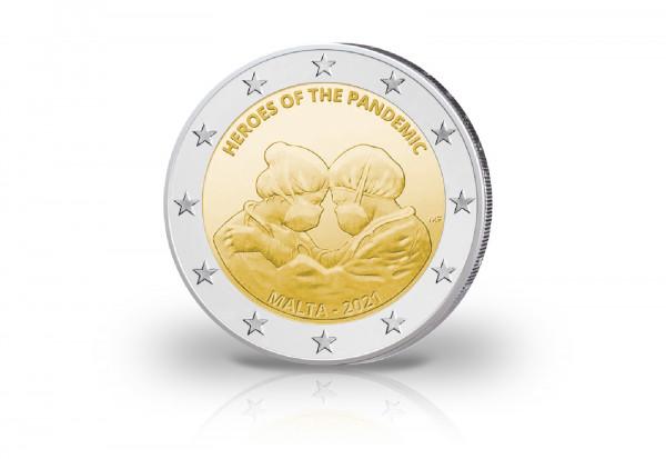2 Euro 2021 Malta Helden der Pandemie st Coincard
