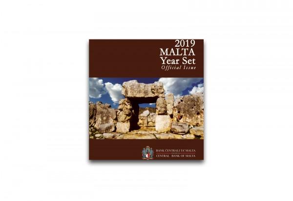 Kursmünzensatz 2019 Malta st inkl. 2 Euro Gedenkmünze Ta Hagrat im Blister