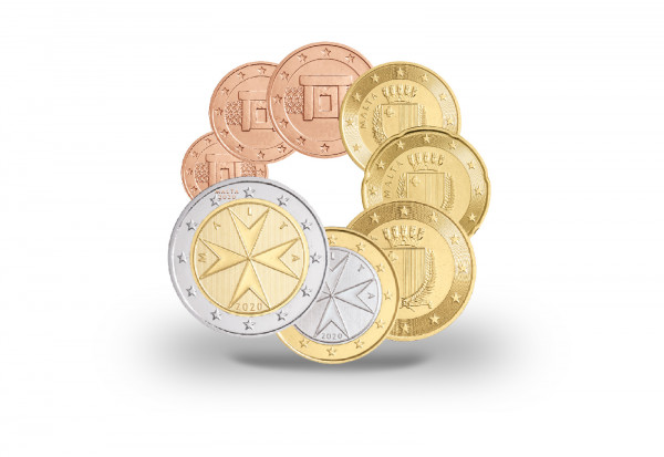 Kursmünzensatz 2020 Malta st inkl. 2 Euro im Blister