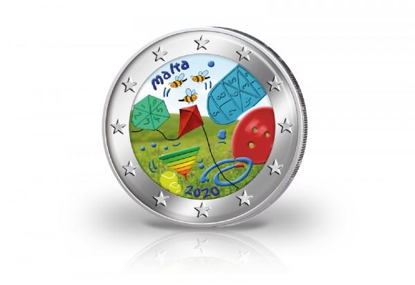 2 Euro 2020 Malta Von Kindern mit Solidarität Spiele mit Farbmotiv