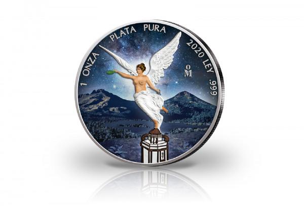 Libertad 1 oz Silber 2020 Mexiko mit Farbapplikation
