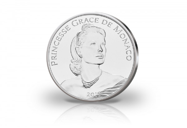 10 Euro Silbermünze 2019 Monaco 90. Geburtstag Gracia Patricia PP