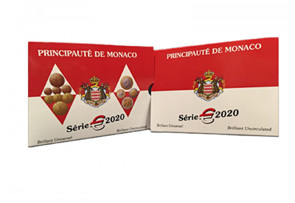 Kursmünzensatz 2020 Monaco st im Blister