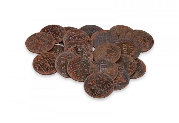 Kupfermünze 1817-1945 Niederlande-Indien Nominal und Jahrgang unserer Wahl