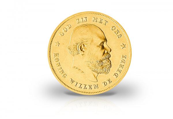 10 Gulden Goldmünze 1876-1889 Niederlande Wilhelm III.