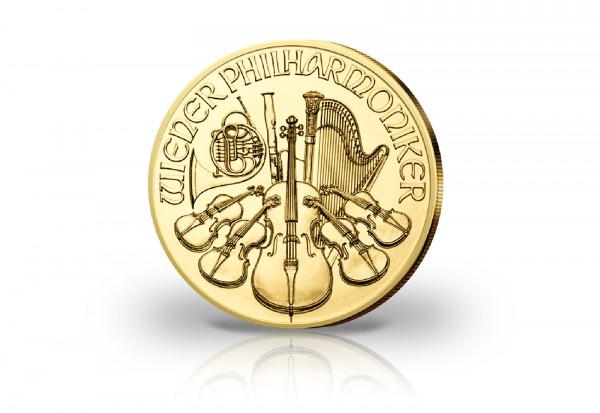 Wiener Philharmoniker 1/10 oz Gold 2021 Österreich