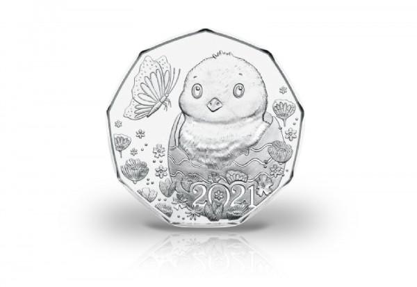 5 Euro Silbermünze 2021 Österreich Ostermünze hgh im Blister