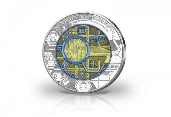 25 Euro Silbermünze 2021 Österreich Mobilität der Zukunft hgh im Blister