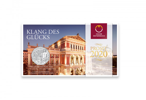5 Euro Silbermünze 2020 Österreich 150 Jahre Musikverein hgh im Blister