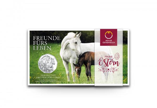 5 Euro Silbermünze 2020 Österreich Freunde fürs Leben hgh