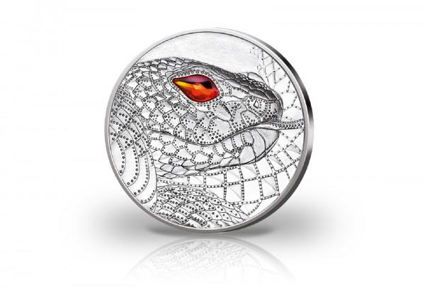 20 Euro Silbermünze 2021 Österreich Schöpferkraft der Schlange PP im Etui