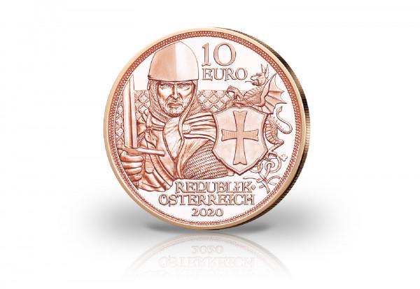 10 Euro Kupfermünze 2020 Österreich Mit Kettenhemd und Schwert Tapferkeit