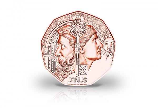 5 Euro Kupfermünze 2021 Österreich Neujahresmünze Janus