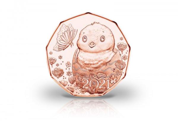 5 Euro Kupfermünze 2021 Österreich Ostermünze