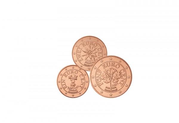 1 Cent - 5 Cent Jahrgang unserer Wahl Österreich bankfrisch