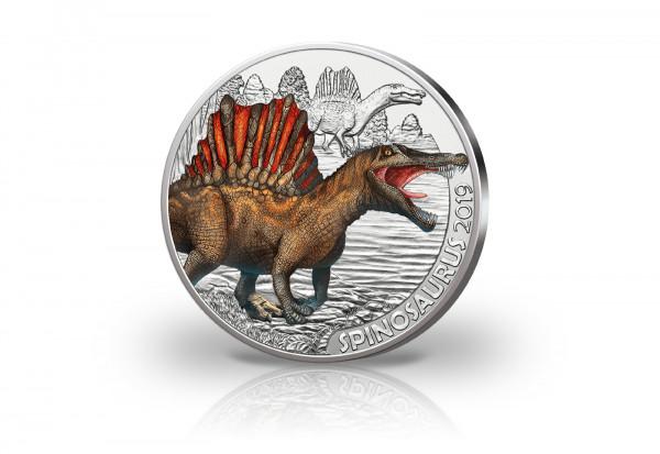 3 Euro 2019 Österreich Spinosaurus mit Farbe hgh
