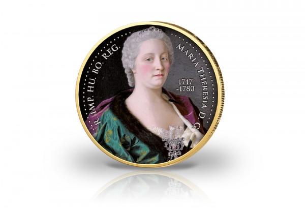 2 Euro 300. Geburtstag Maria Theresia mit Kaltemaille und 24 Karat Goldauflage