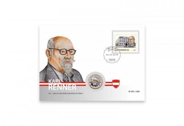 Numisbrief Karl Renner