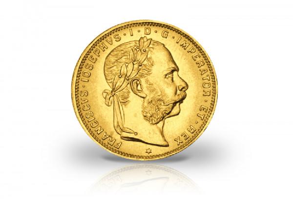 8 Florin/Gulden Goldmünze 1892 Österreich Franz Joseph I.