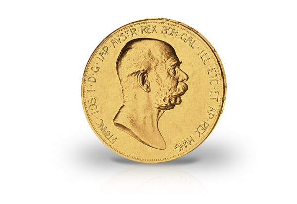 100 Kronen Goldmünze 1908 Österreich Regierungsjubiläum Josef I.