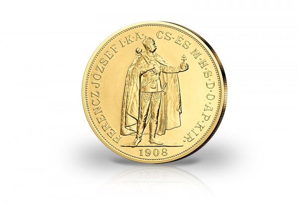 100 Korona Goldmünze 1907-1908 Österreich-Ungarn Stehender Kaiser Joseph I.