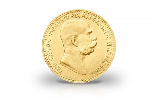 10 Kronen Goldmünze 1908 Österreich Joseph I. Jubiläumsjahrgang