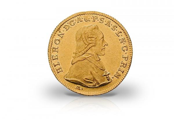 Dukat Goldmünze 1773-1802 Österreich Hieronymus von Colloredo Büste vz