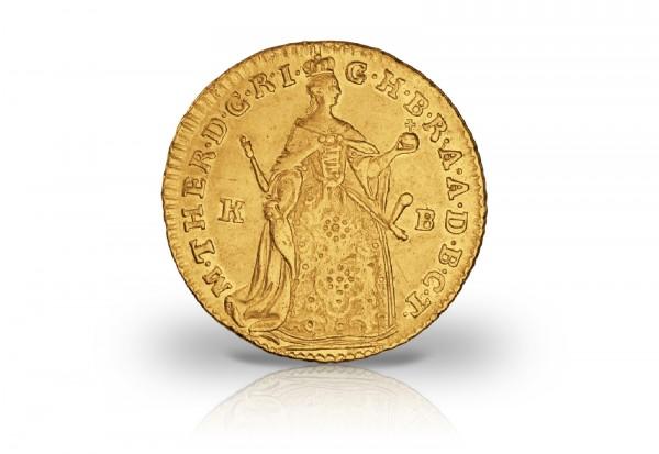 Dukat Goldmünze 1741-1765 Österreich Stehende Maria Theresia vz