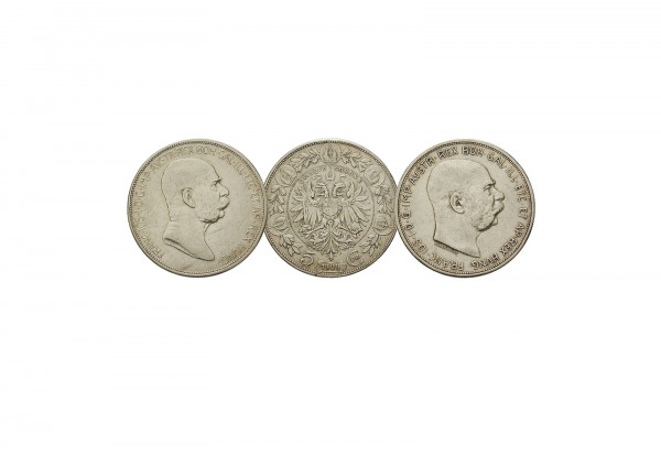 5 Kronen Silbermünzen 1909 Österreich Kaiser Franz Joseph I. 2er Set ss/vz