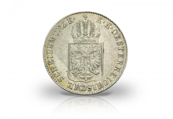 6 Kreuzer Silbermünze 1848 Österreich mit Wappen ss/vz