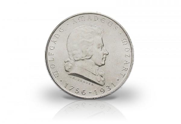 1. Republik Österreich 2 Schilling Silbermünze 1931 Wolfgang A. Mozart