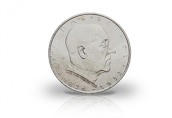 2 Schilling Silbermünze 1933 Österreich Seipel
