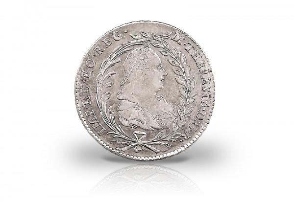 Österreich 20 Kreuzer 1765-80 Maria Theresia mit Schleier ss