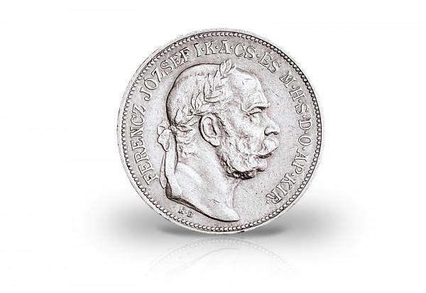 2 Korona Silbermünze 1912-1914 Österreich Kremnitzer Engel Franz Joseph I.