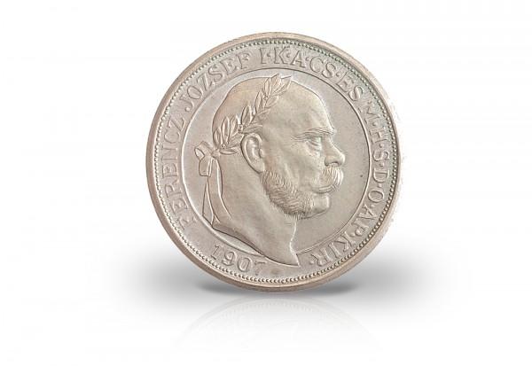 Österreich Silbermünze 5 Korona 1907 Franz Joseph I. 40jähriges Krönungsjubiläum